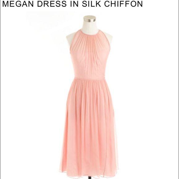 JCrew Misty Rose Megan Dress in silk chiffon