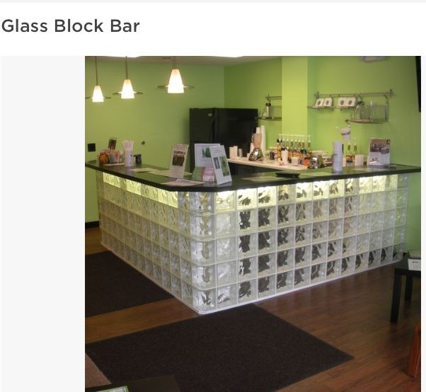 Glass Block Bars Can Be Made For Either Commercial Or Residential Projects.  The Glass Blocks Can Be Assembled With Either Clear Or Colored Units And Cu2026