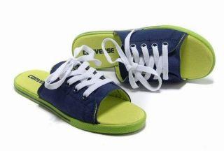 62bcea0f7822 2013 Classic Converse Chuck Taylor All Star Cutaway Slide EVO Sandals For Women  Low Blue Green