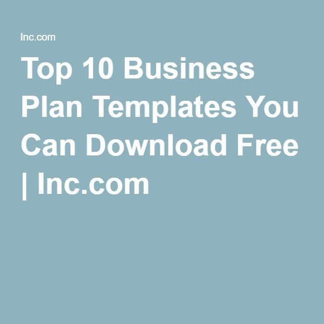 Top 10 Business Plan Templates You Can Download Free Business - free business proposal templates
