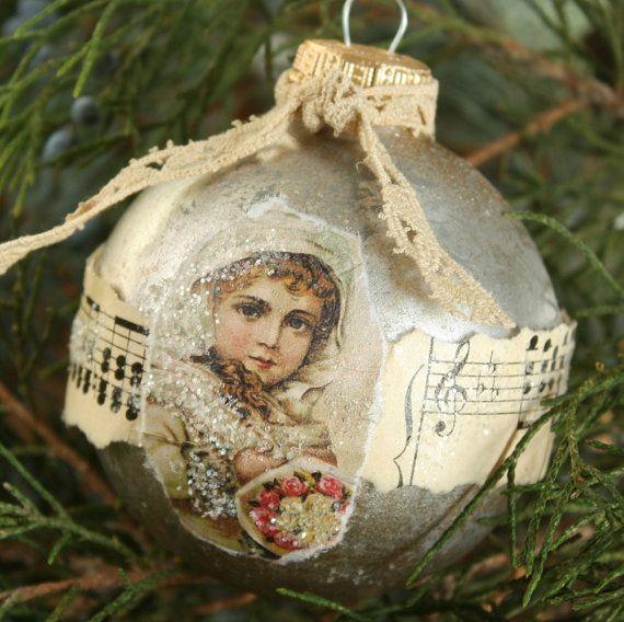 vintage postkarte ornamente