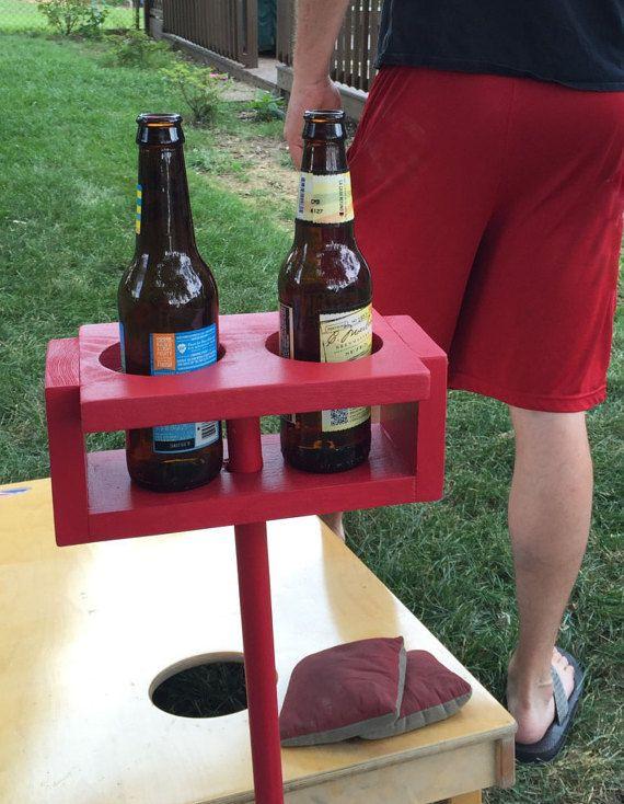 Nie Verschutten Sie Ihr Getrank Bei Hof Spielen Wieder Diese Getrankehalter Halt Ihr Getrank Auf Arm Ebene Wahrend Outdoor Yard Games Drink Stand Yard Games