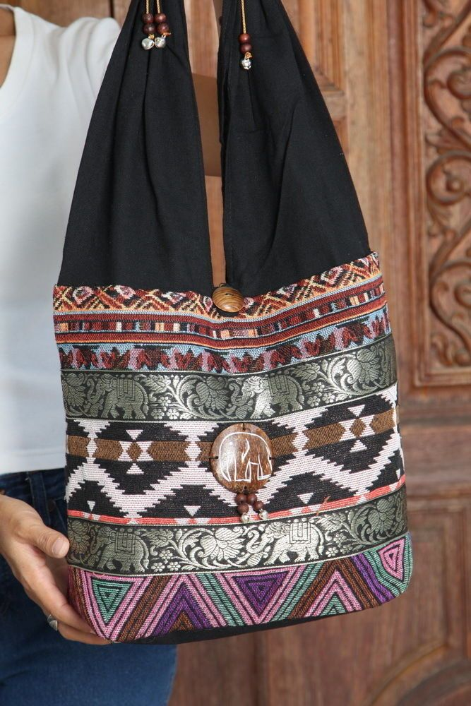 New Cotton Floral Design Thai Tribal Boho Hmong Purse Shoulder bag BG67   Handmade  ShoulderBag 23c5ac4580eca