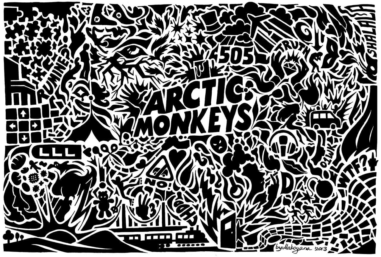 Arctic Monkeys Digital Wallpaper Arctic Monkeys 720p Wallpaper Hdwallpaper Desktop Arctic Monkeys Wallpaper Arctic Monkeys Album Cover Monkey Wallpaper