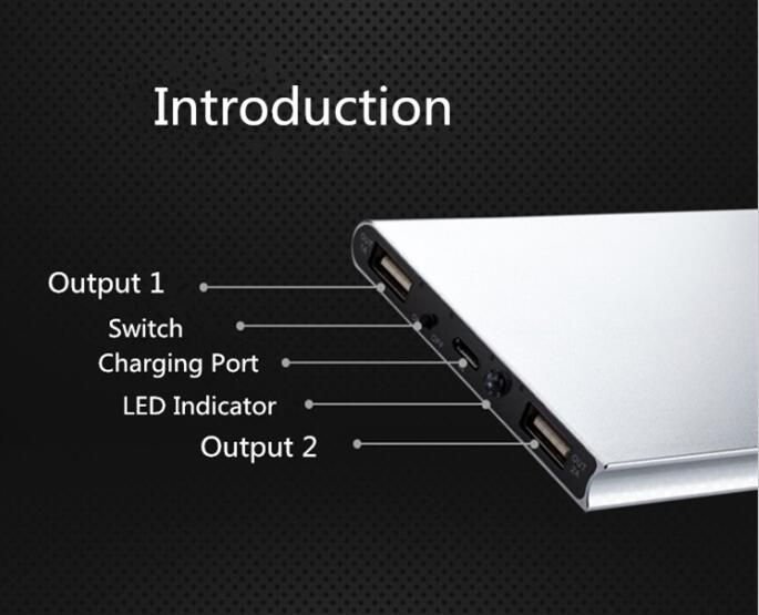 50000mah Powerbank Dual Usb Ports 2a Fast Charger 18650 Power Bank For Iphone Xiaomi Huawei Tablet Portable Charger Powerbank Portable Charger Solar Power Bank