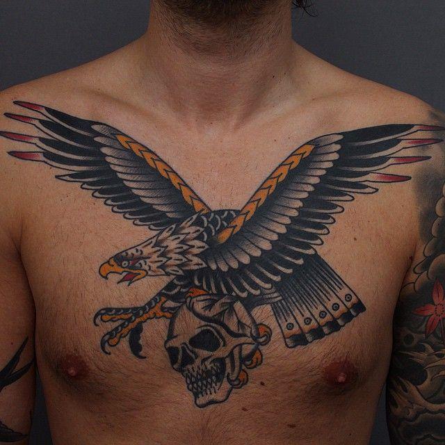 Tony Nilsson as featured on www.swallowsndaggers.com #tattoo #tattoos #skull