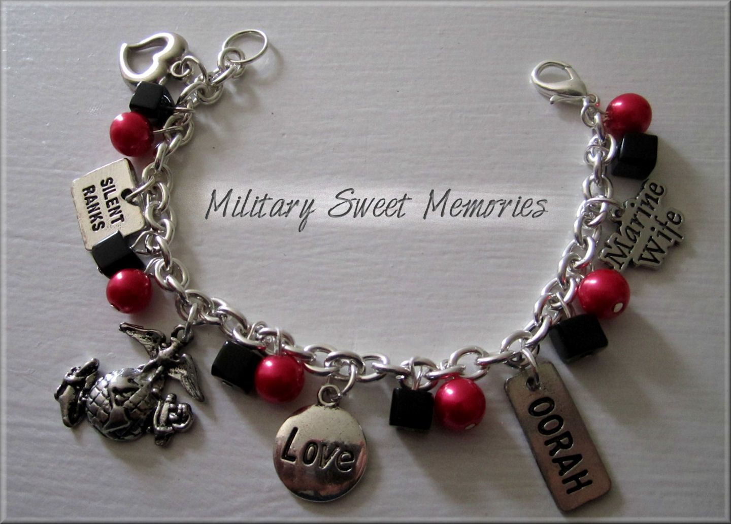 Marines, Marine Wife, Marine Girlfriend, I love my Marine, I love my marine bracelet