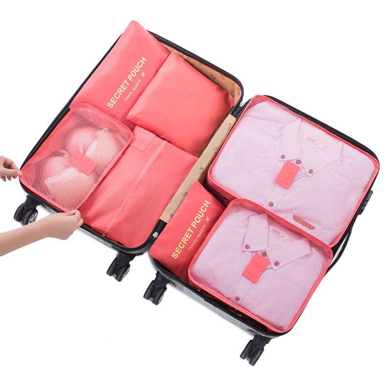 7pcs Set Cube Packing Travel Storage Bag Clothes Shoes Organizer Tidy Case Pouch