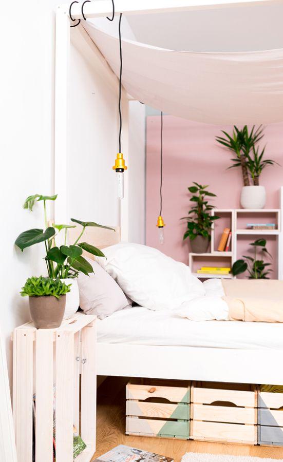 Projekt: Himmelbett Frieda | Pinterest | Bett 200x200, Bett 140x200 ...
