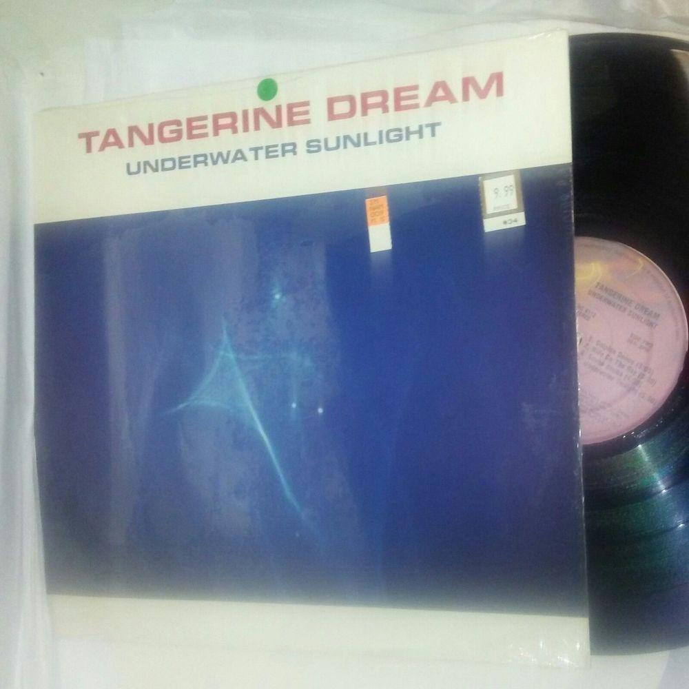 """TANGERINE DREAM """"Underwater Sunlight"""" LP 1986 Relativity EMC 8113 EX ... for Underwater Sunlight Tangerine Dream  59nar"""