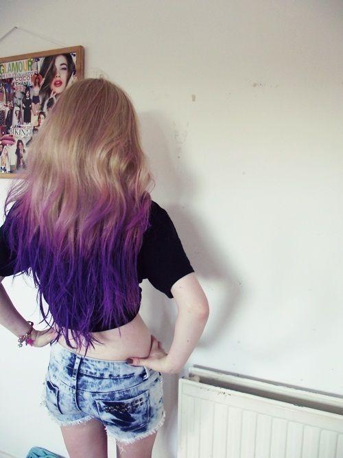 Pin By Lynsi Warrick On Hair Flair Purple Ombre Hair Dip Dye