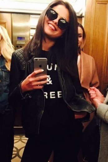54d42f33bd6 Selena Gomez wearing Celine Cl41077 S Bridge Sunglasses