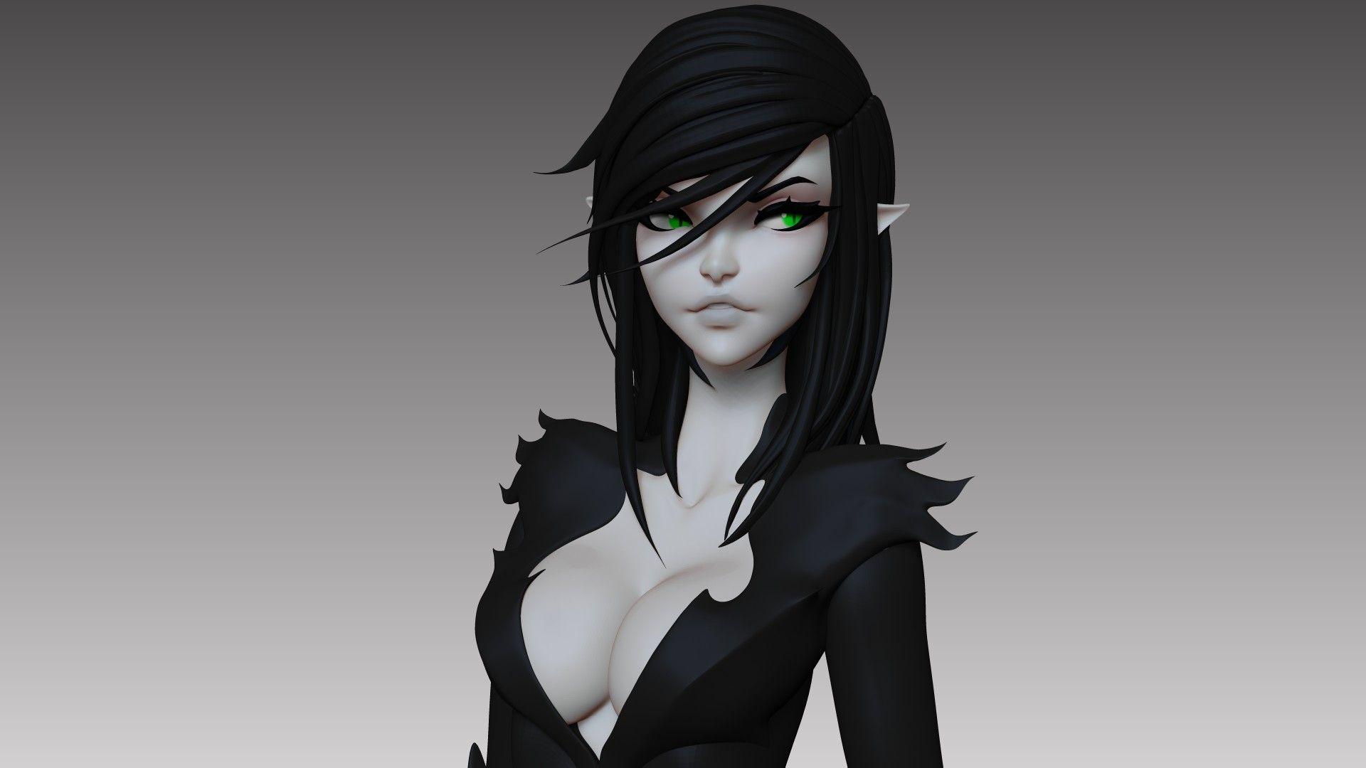 Artstation Doodle Dmytro Bajda Character Design Girl 3d Art