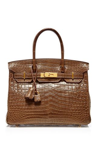 aa294e13f229 Hermes 30cm gris elephant niloticus crocodile birkin by HERITAGE AUCTIONS  SPECIAL COLLECTION for Preorder on Moda Operandi