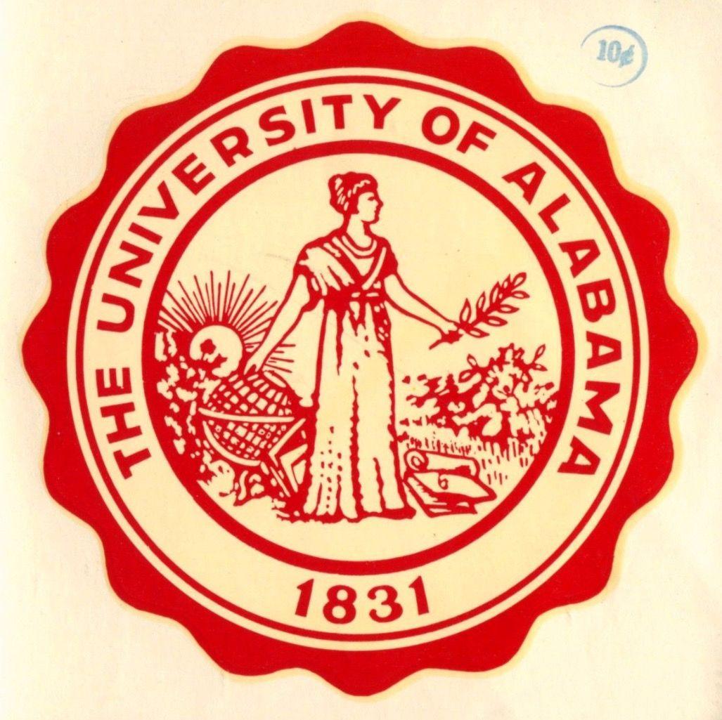 Alabama Vintage Sticker Alabama Rolltide Bama Builtbybama Rtr Crimsontide Rammerjammer Alabama Crimson Tide Alabama Crimson Alabama