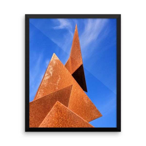 Twisted Pyramids - Framed Art Print