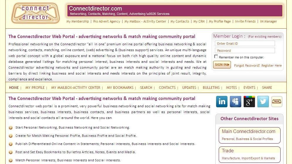http\/\/wwwnnectdirector Connect director matching interests - personal interests