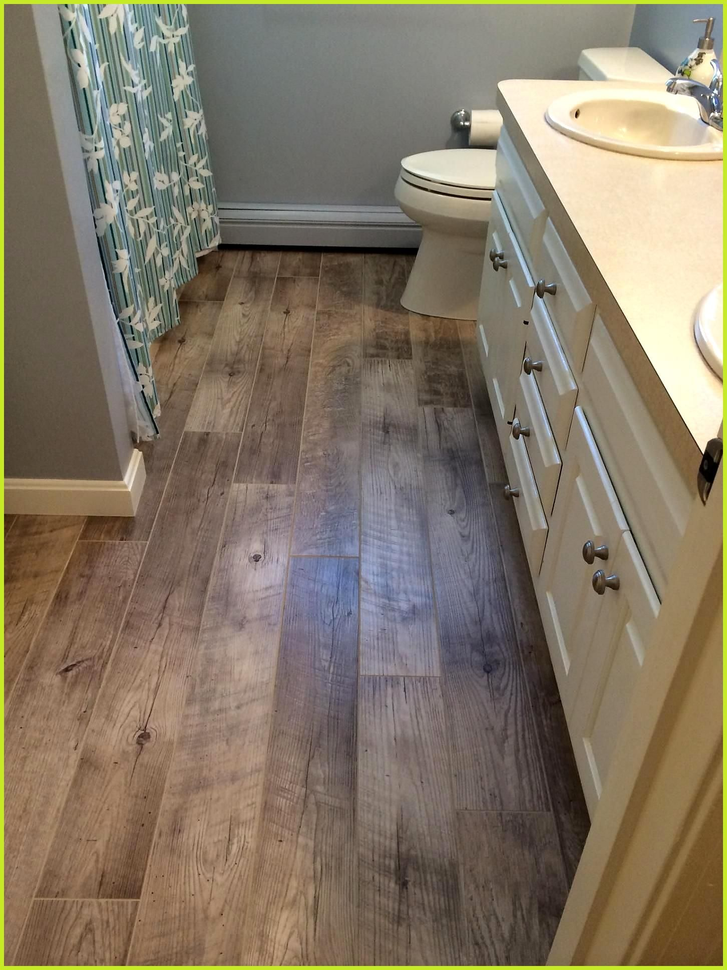 Installed With Chamois Grout Adura Distinctive Plank Dockside Sand Color Lux In 2020 Vinyl Plank Flooring Bathroom Vinyl Flooring Bathroom Luxury Vinyl Plank Flooring
