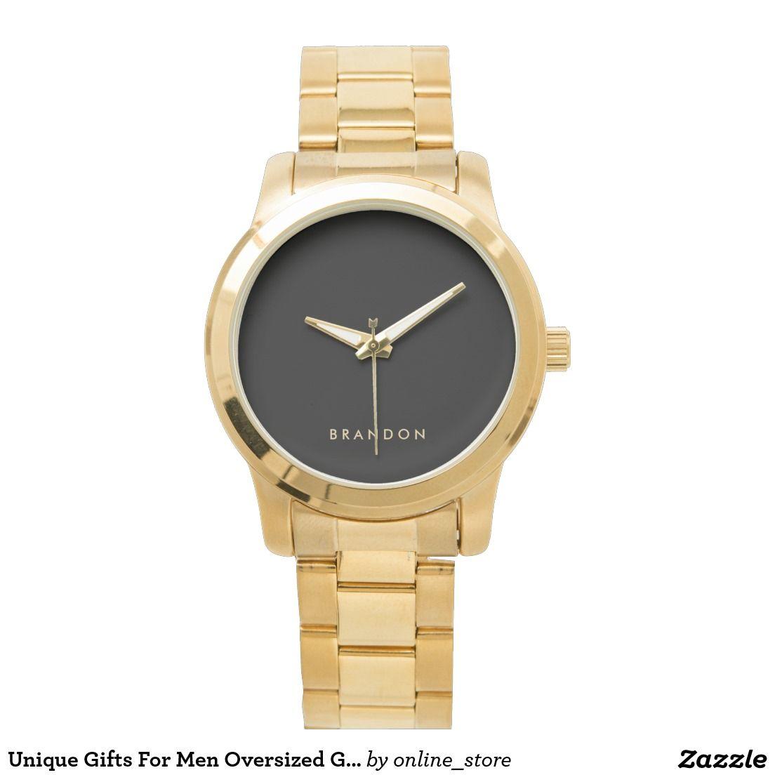 Unique Gifts For Men Oversized Gold Bracelet Watch