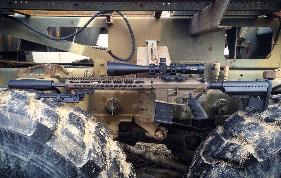 AR10 .308 Rifle Patriot Brown Cerakote Vortex Optics Scope ...