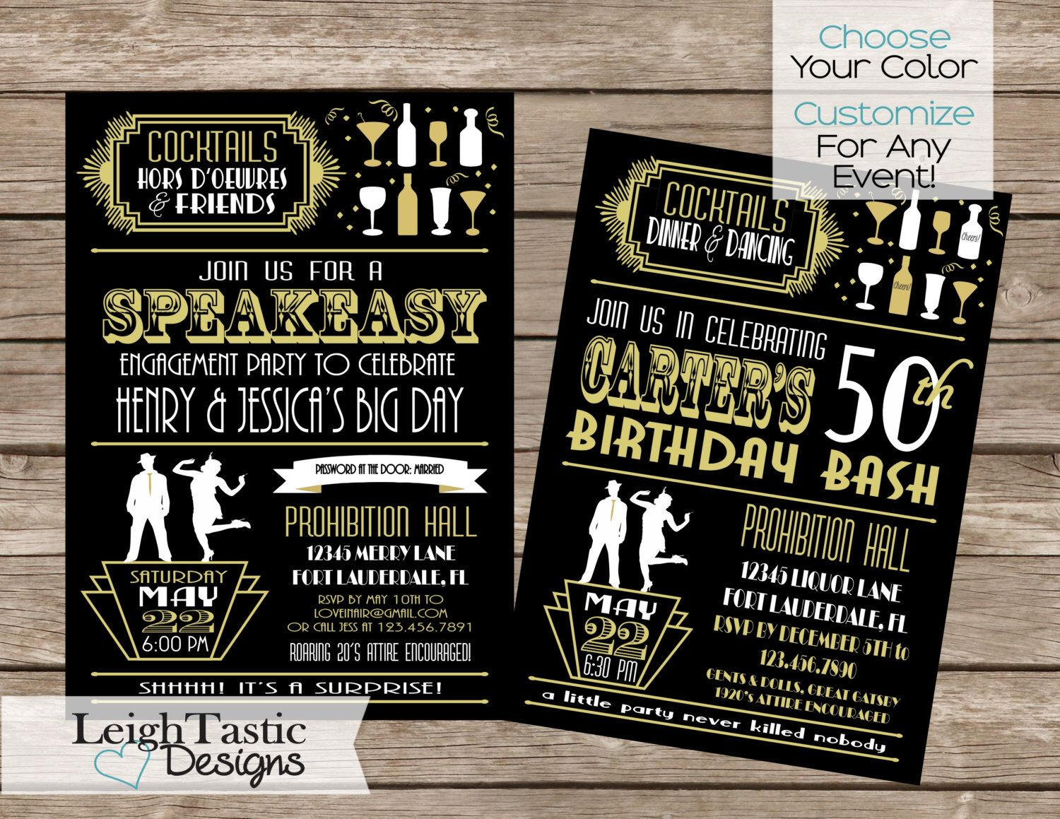 PRINTABLE For Any Event! ROARING 20\'S INVITATION, Gatsby ...