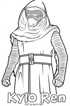 Printable Starwars The Force Awakens Kyloren Coloring Pages For