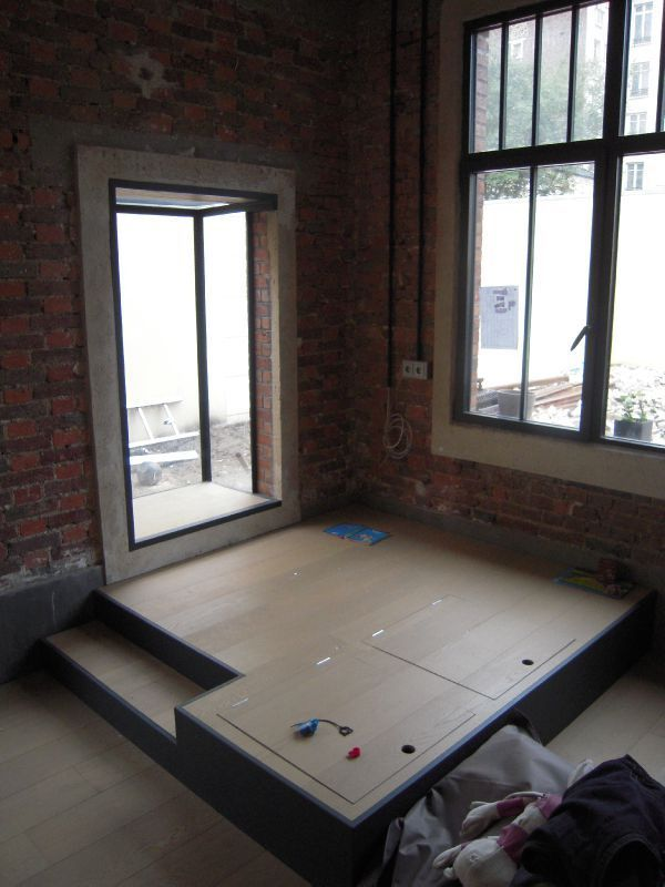Chantier 017 estrade et t te de lit pinterest chantier chambres et lits for Lit estrade but