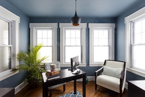 1000 images about home office ideas on pinterest home office modern desk and ball chair blue office walls