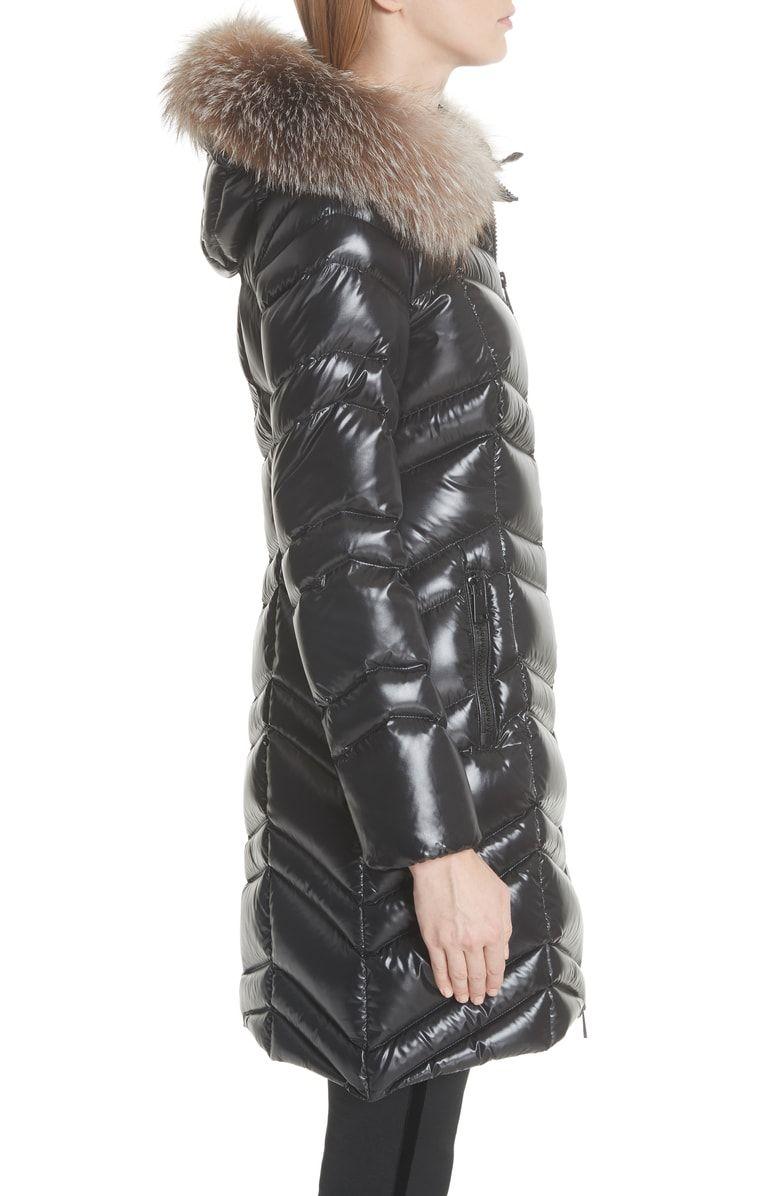 da288646828b Fulmar Hooded Down Puffer Coat with Removable Genuine Fox Fur Trim ...
