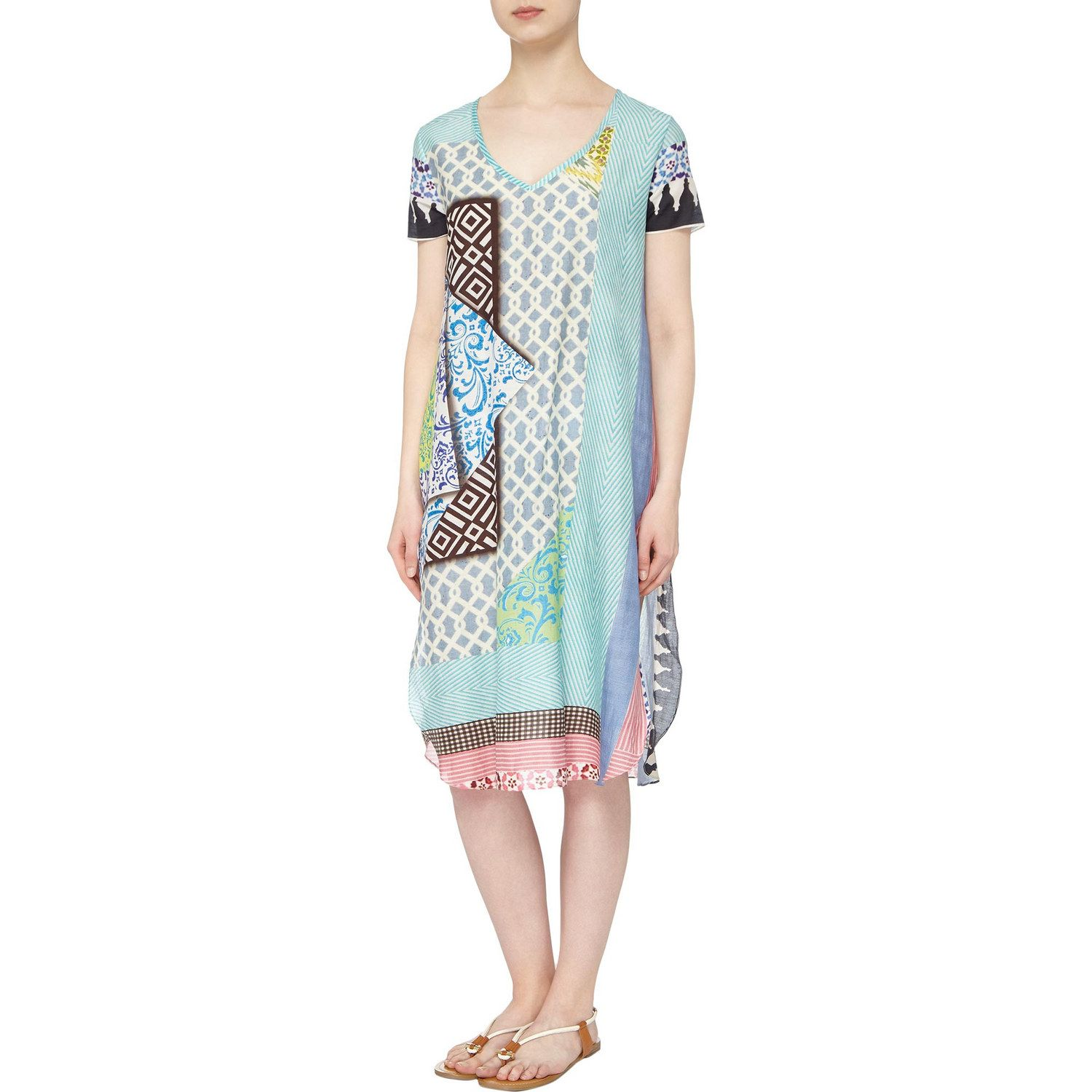 On The Tiles Tunic Dress Cover Up Cotton Tunic Dress Dress Cover Summer Tunic Dress [ 1500 x 1500 Pixel ]