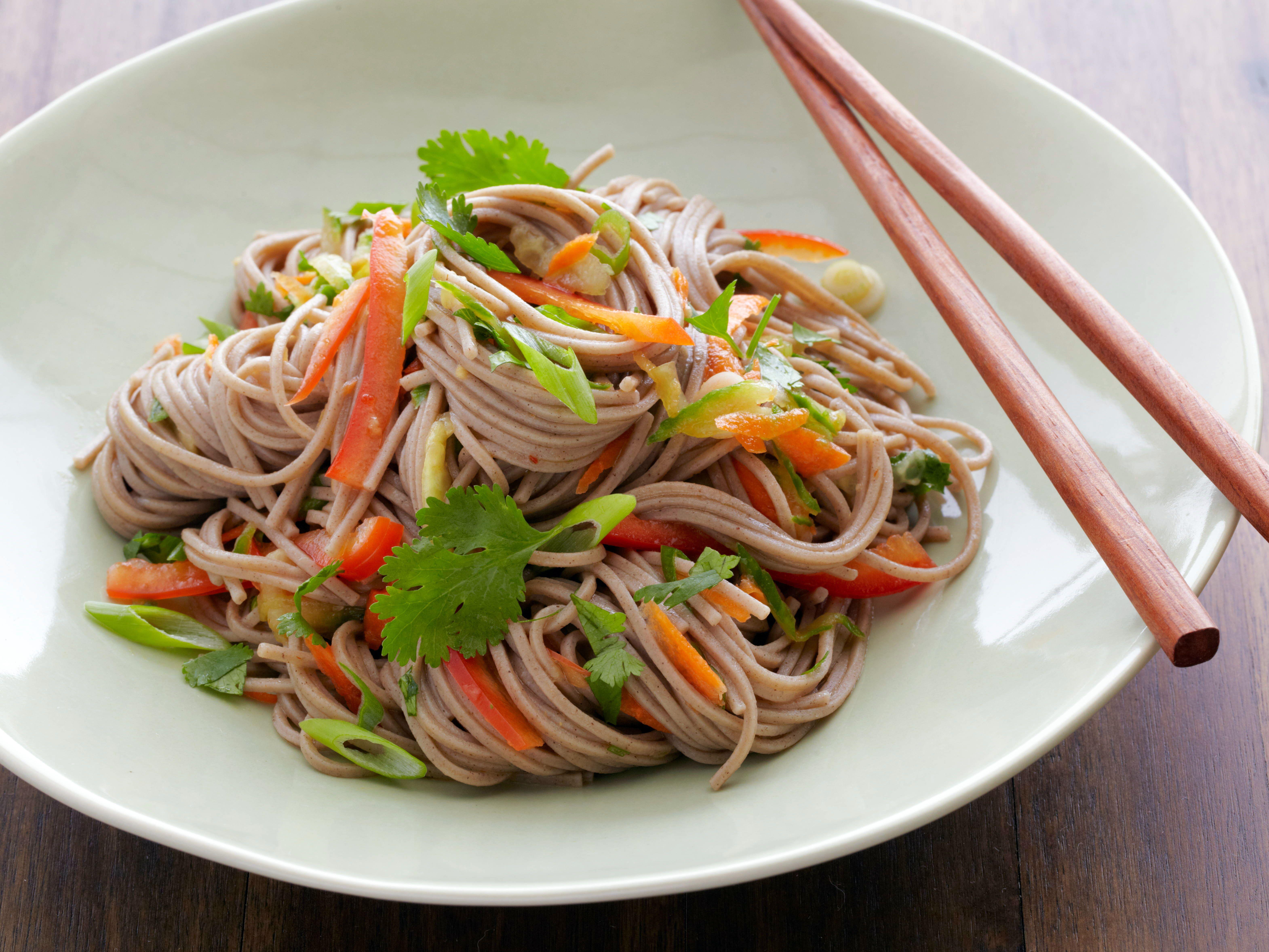 Buckwheat noodle salad recipe buckwheat noodles noodle salads buckwheat noodle salad forumfinder Choice Image