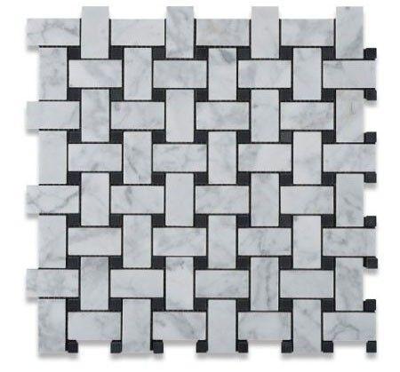 12x12 Bianco White Carrara Marble Polished Mosaic Tile White Mosaic Tiles Carrara Marble Tile Bianco Carrara