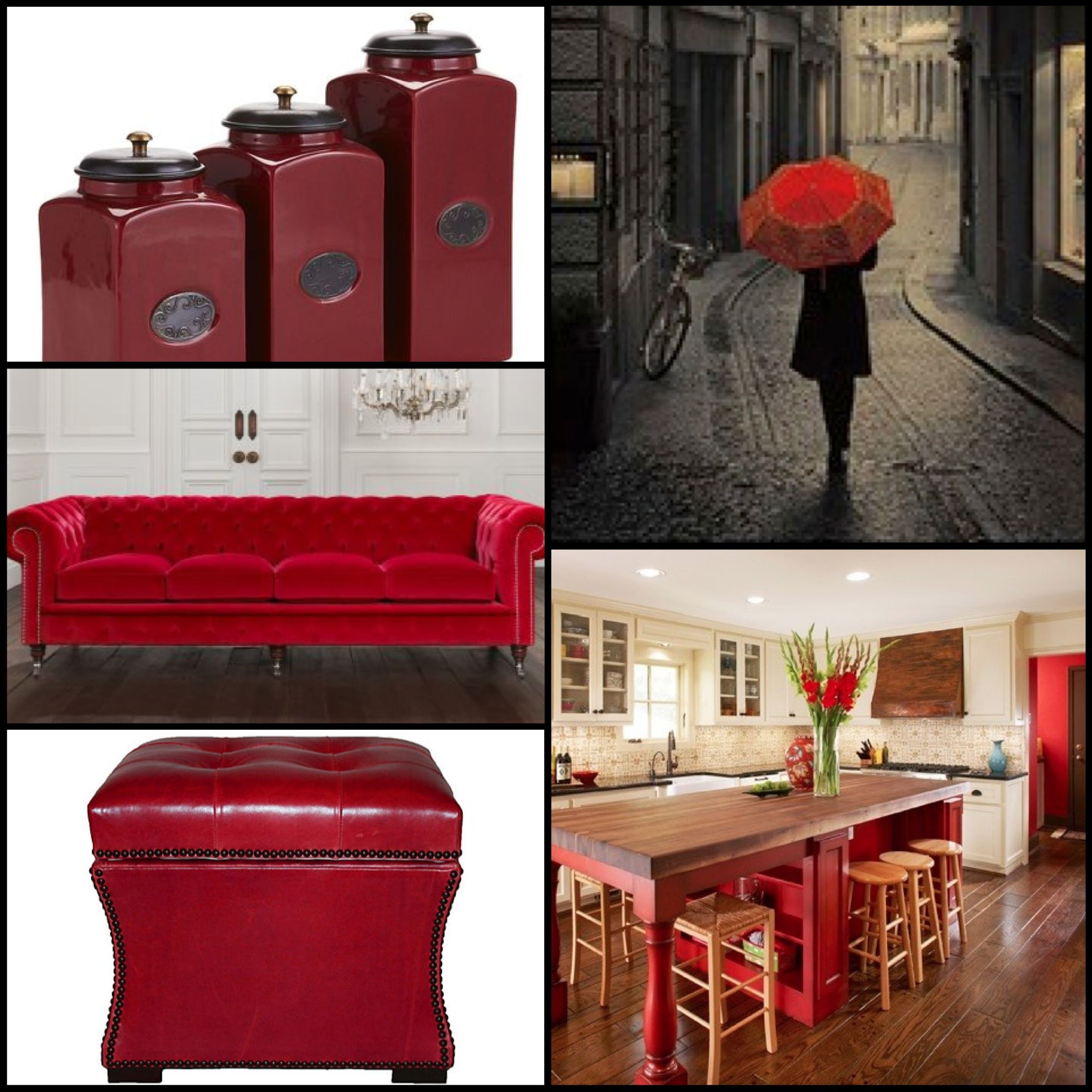 Decorating with Crimson: Inspiration Color Board