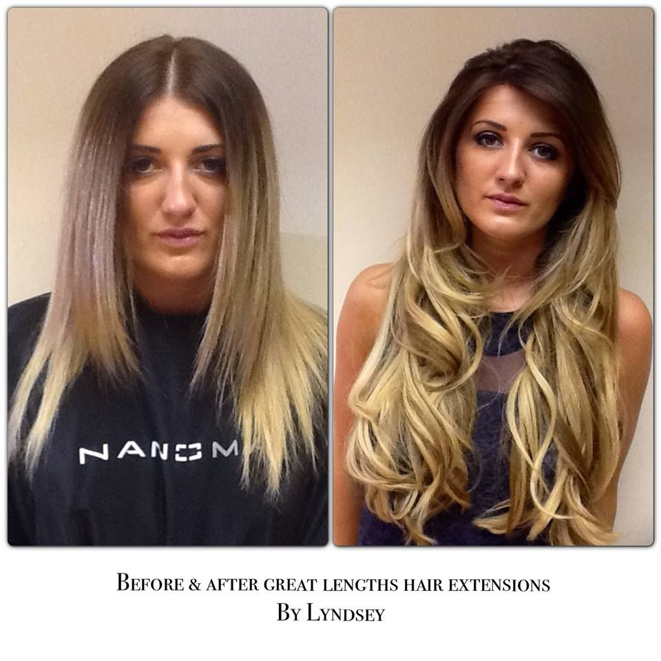 Great Lengths Hair Extensions Before And After Beauty Pinterest