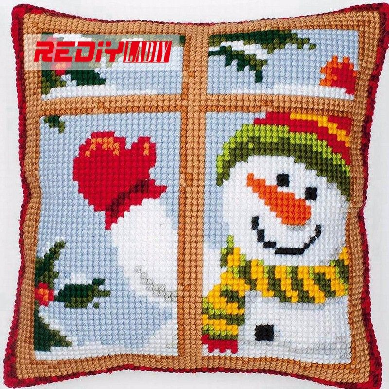 Vervaco Christmas Elf Pillow Cover Needlepoint Kit