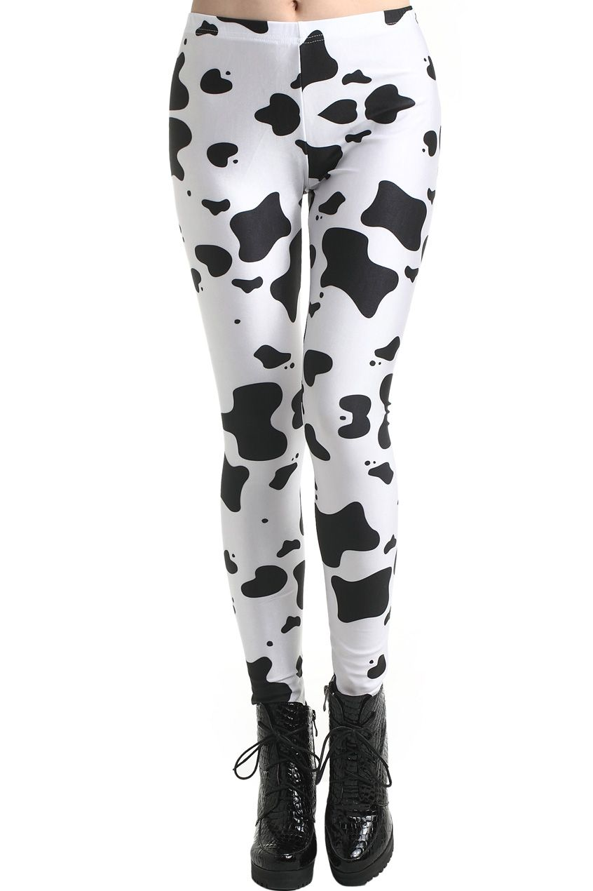 a7c4574a463a0c Dairy Cow Print Leggings in 2019 | Clothes | Cow print, Cow, Printed ...