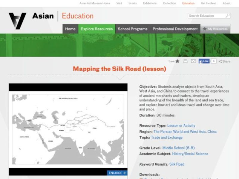 Mapping The Silk Road 6th 8th Grade Lesson Plan Lesson Planet
