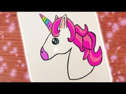 Ein Niedliches Einhorn Zeichnen Diy Einhorn Youtube Pferde