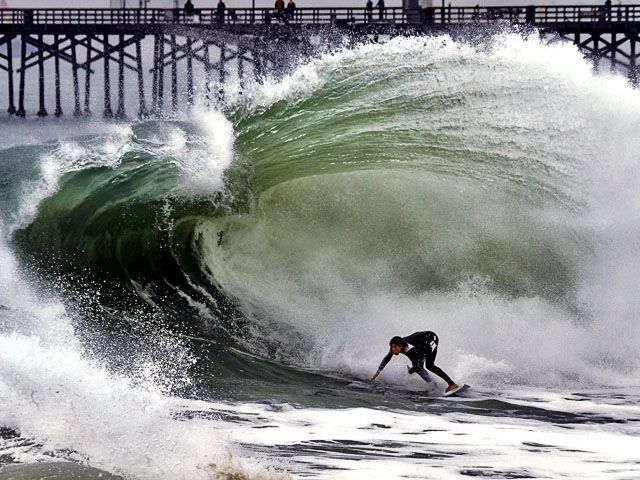 Epic January Swell Brings Seal Beach California To Life