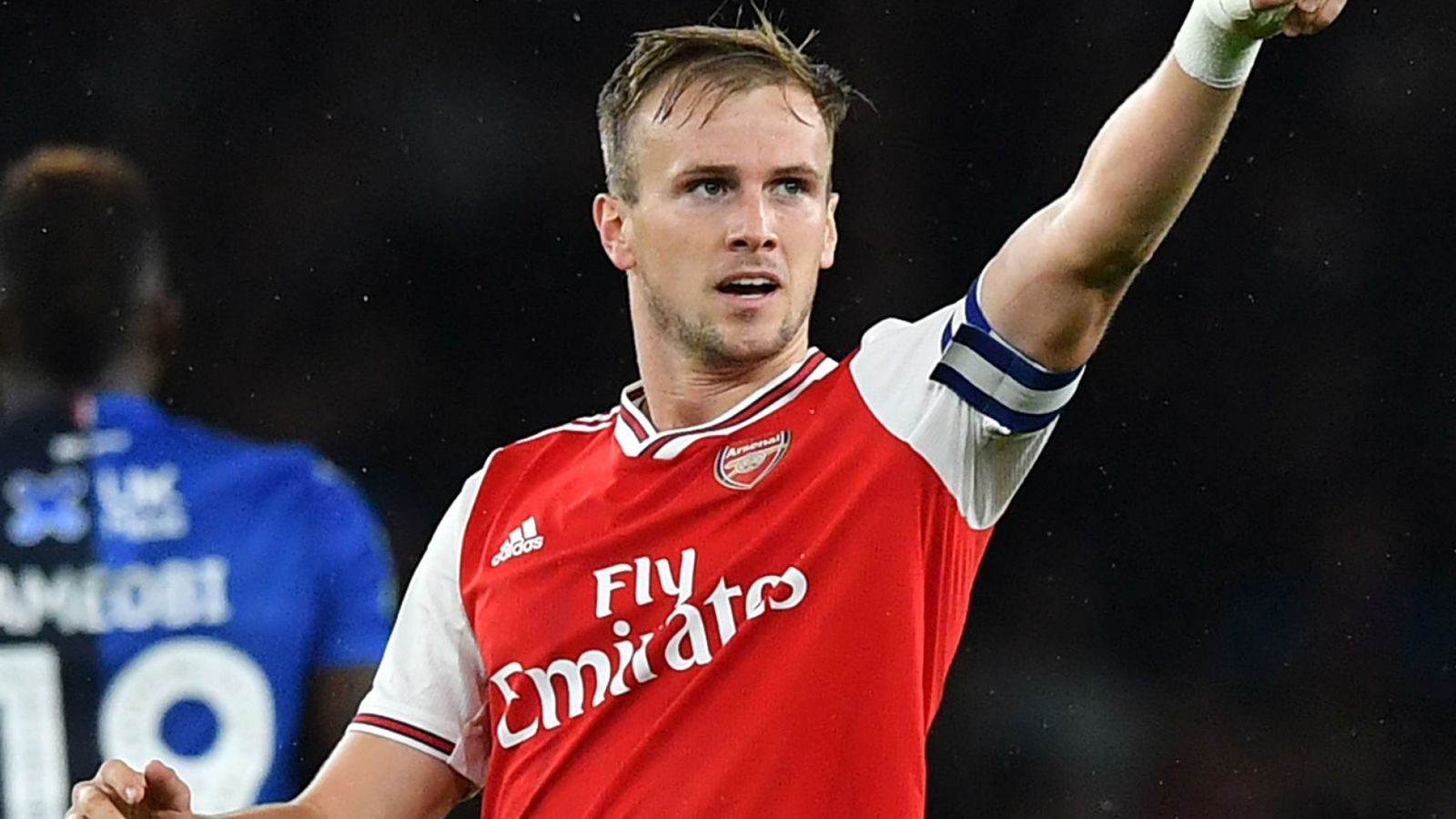 Manchester United vs Arsenal Rob Holding looking for