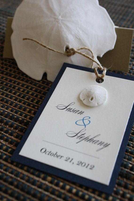 Natural Sand Dollar Beach Wedding Favor Tags by idobliss on Etsy ...