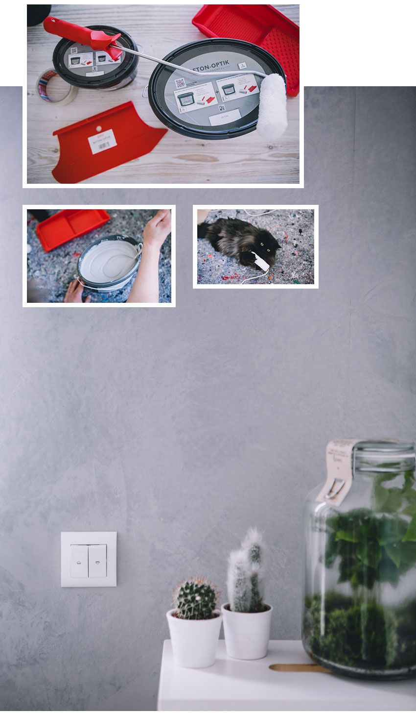 Wand In Betonoptik Selber Machen Trendstruktur Betonoptik Betonoptik Schoner Wohnen Wandfarbe Betonoptik Wand