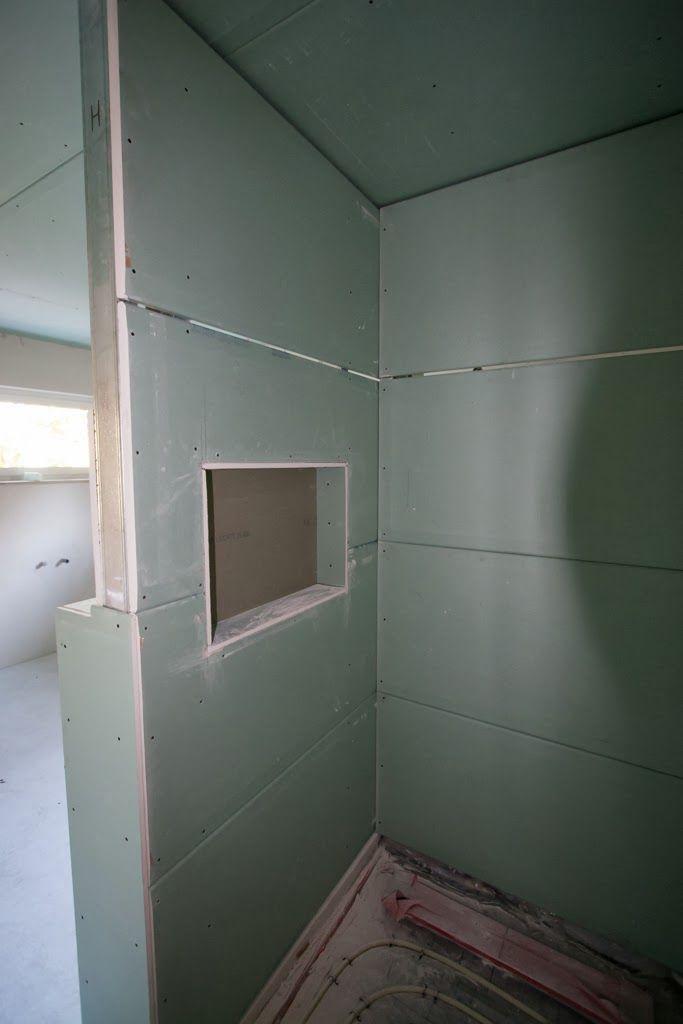 HuMs Baublog Tag 134 Trockenbau im Badezimmer  Badezimmer