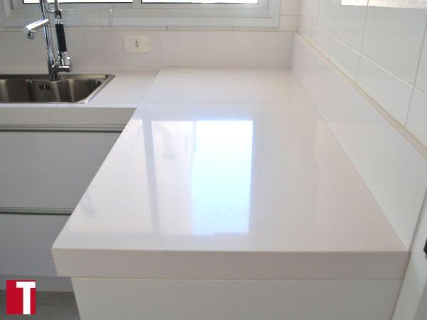bancada cozinha em silestone blanco zeus interior design