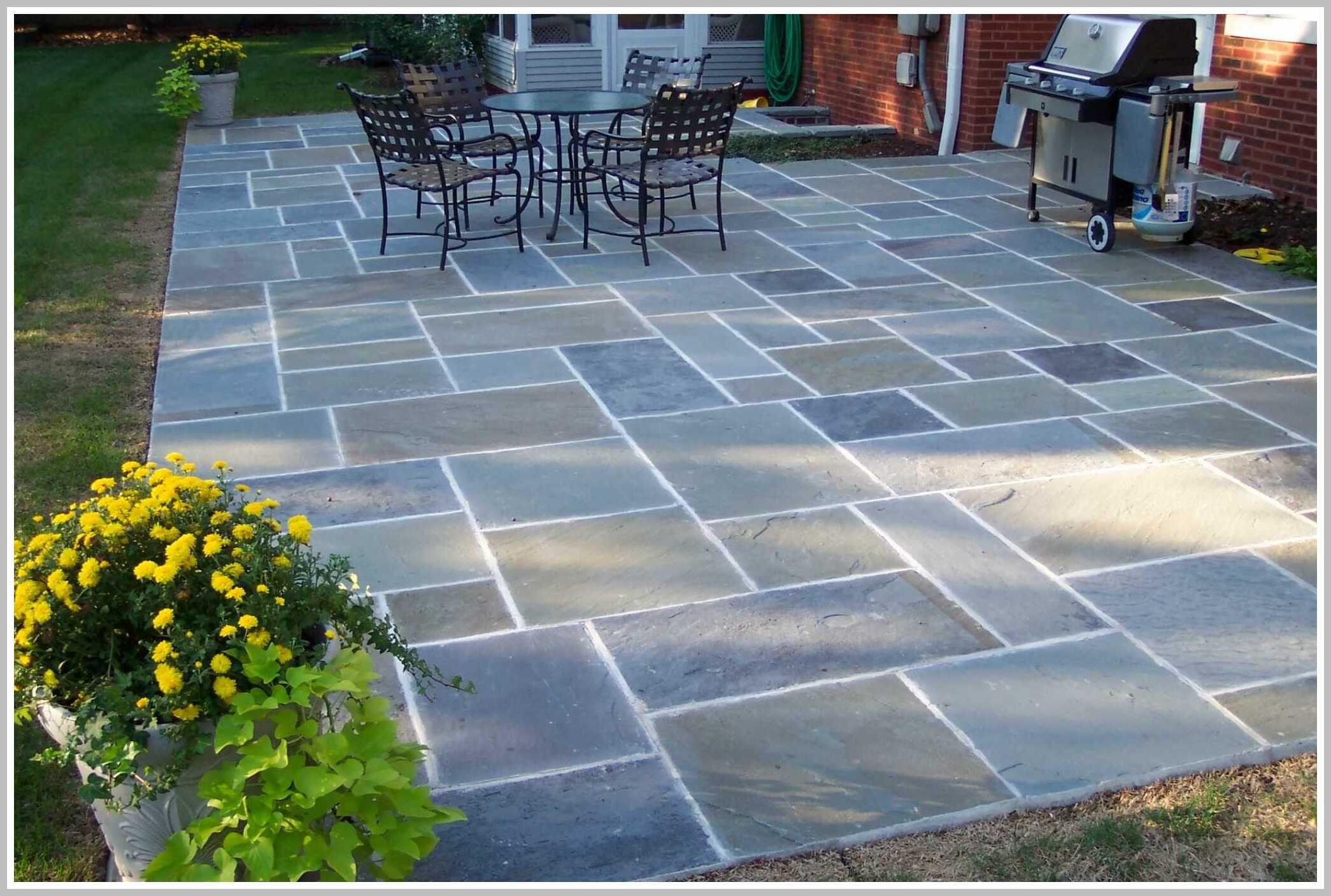 53 Reference Of Stone Patio Tiles Outdoor In 2020 Patio Stones Bluestone Patio Patio Design