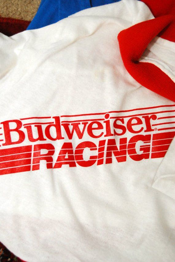 BUDWEISER RACING polo XL shirt 80s beer top bud light retro Bud Light a161cb30ac2