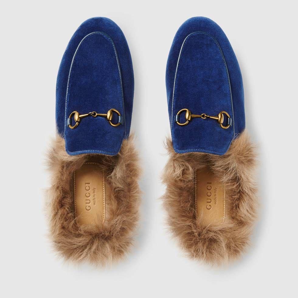 0dd7ea58129 Shop the Princetown velvet slipper by Gucci. The Princetown slipper is  designed in plush velvet