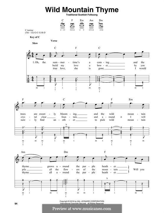 Sheet Music For Wild Mountain Tyme Yahoo Image Search Results