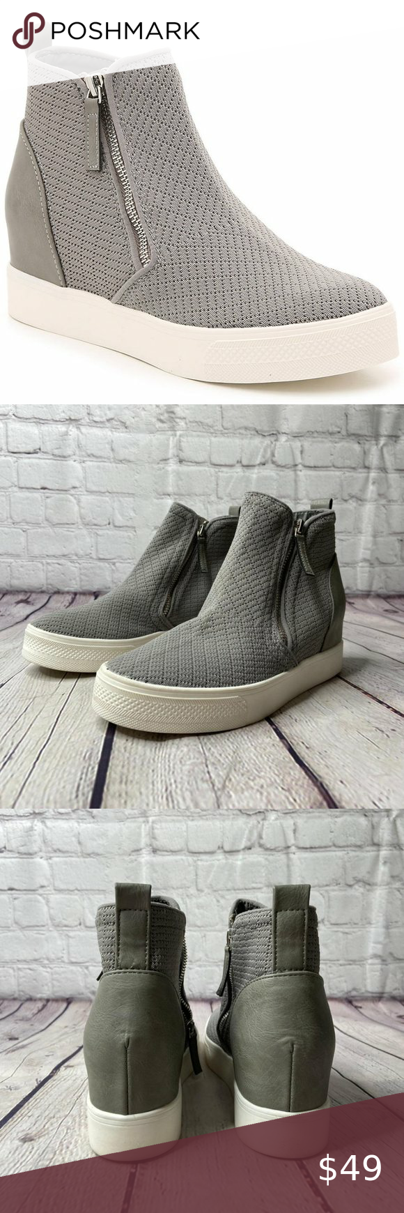 NWT Steve Madden Loxley Wedge High-Top