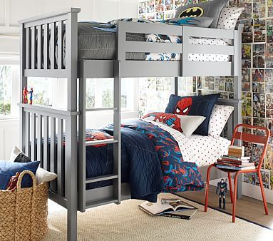 Elliott Twin Over Twin Bunk Bed Simply White Children Space